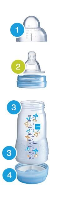 MAM Easy Start Бутылочка для кормления 160 мл с системой «анти-колик» и функцией самостерилизации 0+